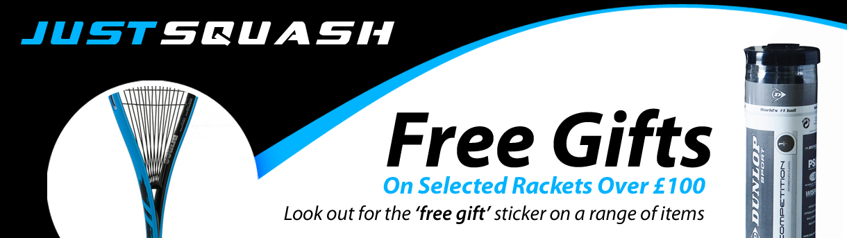 FREE Gifts with Squash Rackets