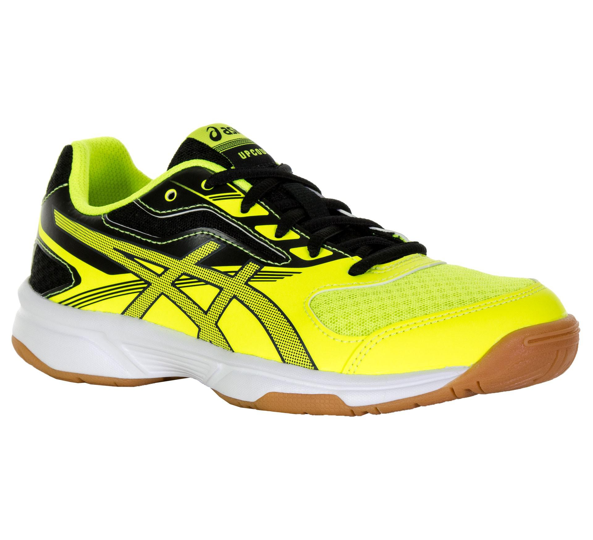 Asics Kids GEL-Upcourt 2 GS Squash Shoes - Safety Yellow Black ... 058d019efc8c4