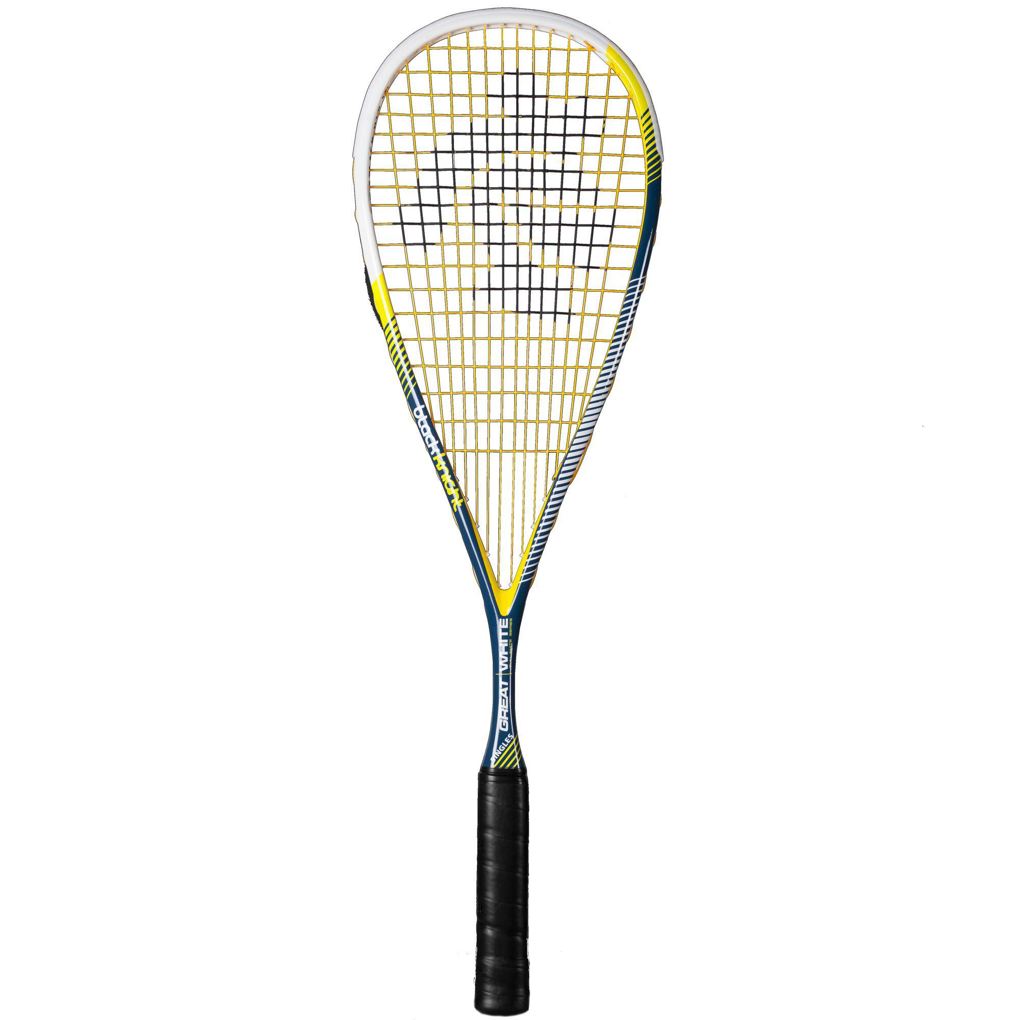 The Black Knight Great White Singles Squash Racket