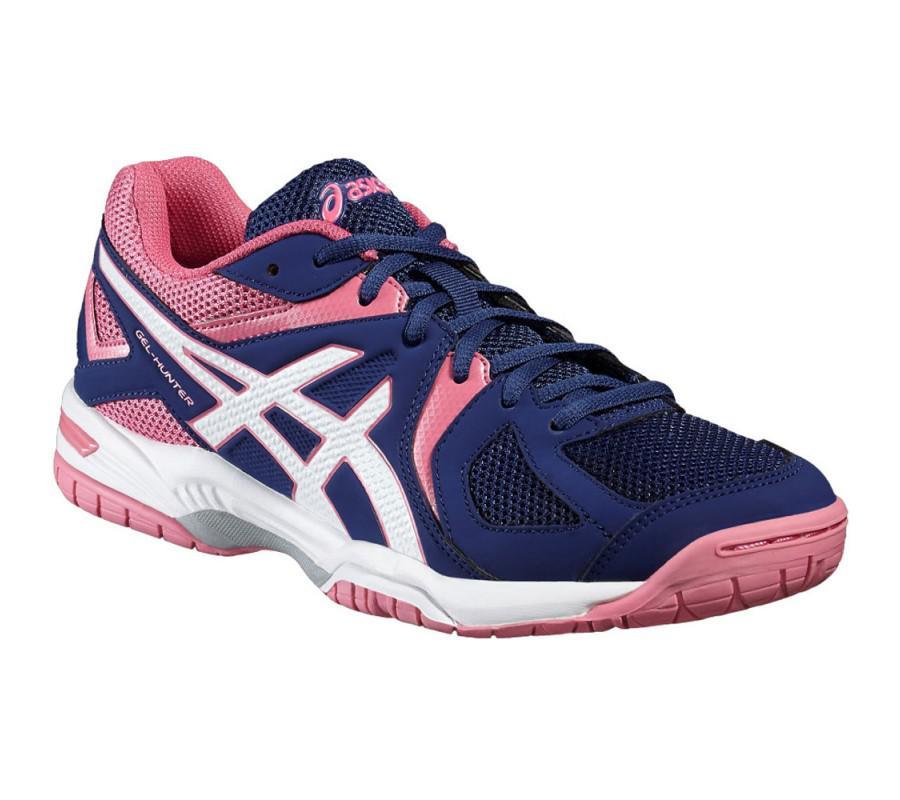 baf4d3f503d Asics Gel Hunter Women`s Indoor Shoes Blue White & Azalea Pink - Just Squash