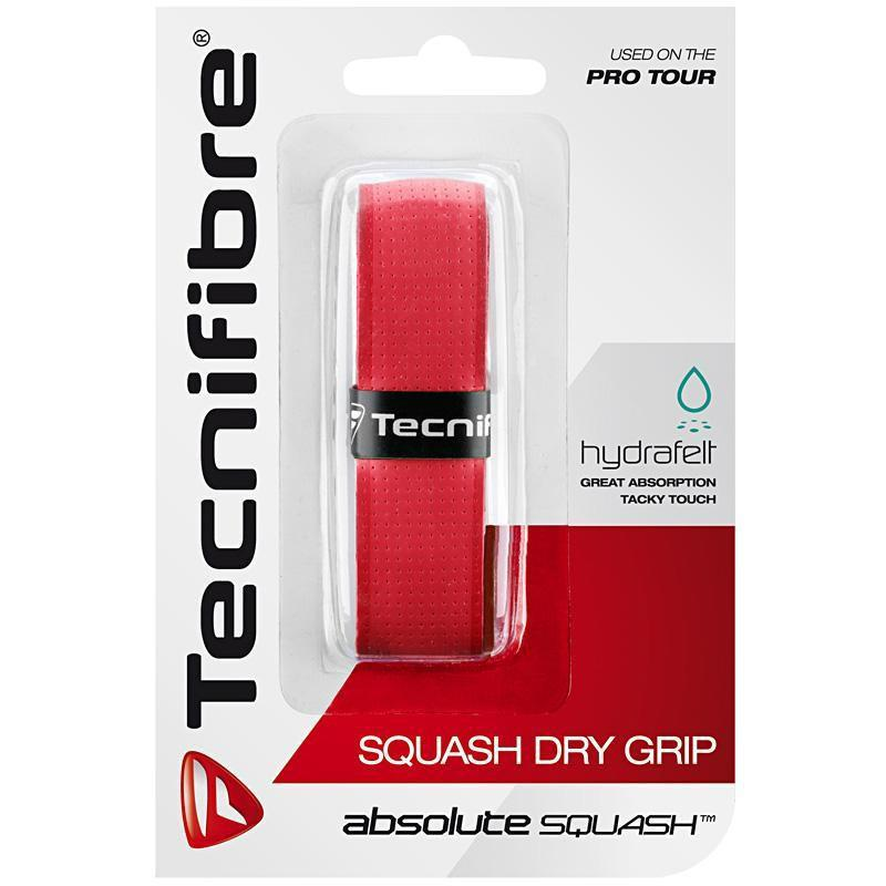 Tecnifibre Absolute Squash Dry Replacement Grip - Red