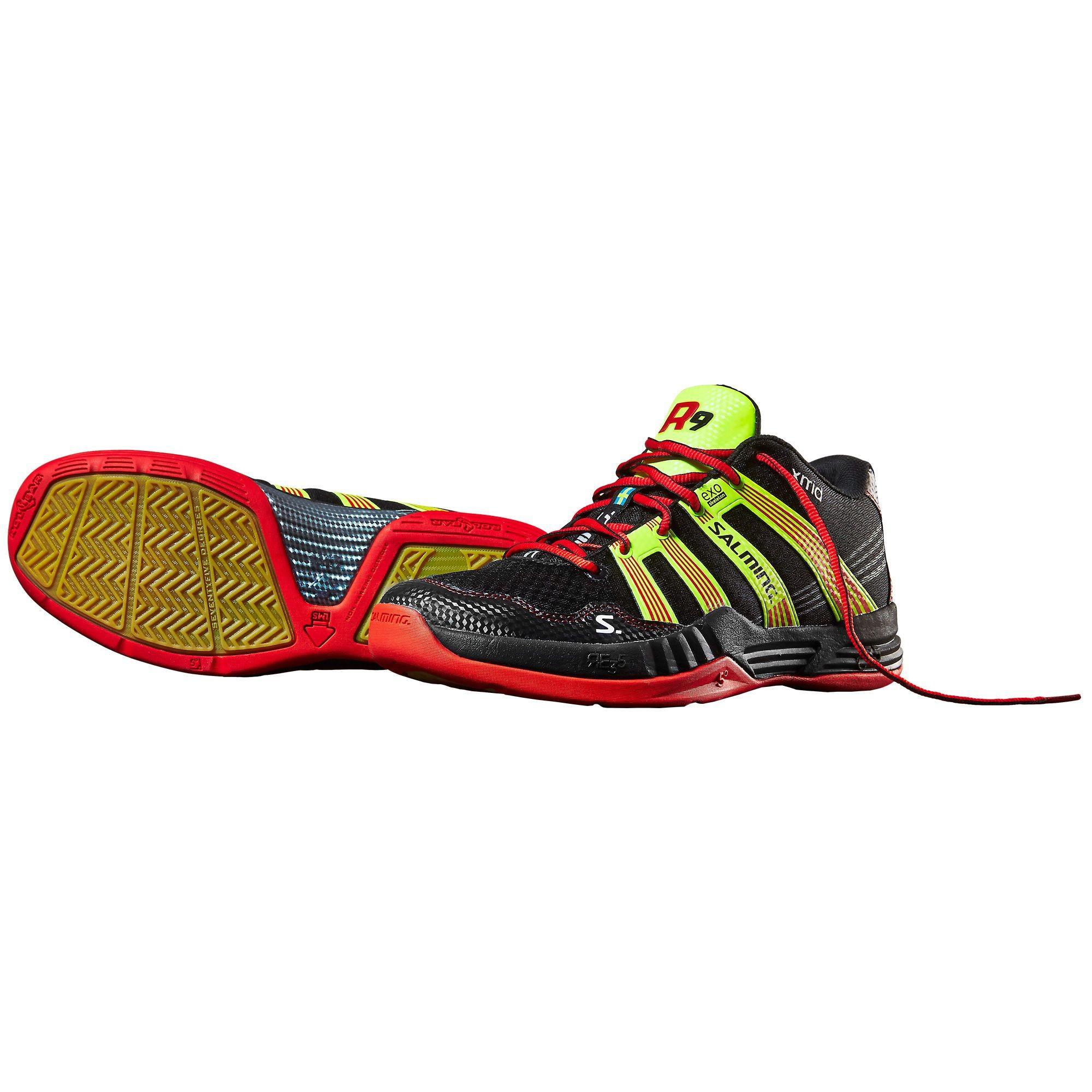 salming mens race r9 mid 2 0 indoor court shoes black